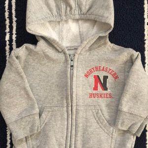 Northeastern University infant hoodie